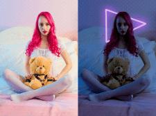 Обработка фотографии( Цветокоррекция + неон)