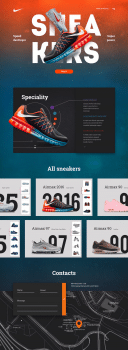 Landing page for sneaker shop