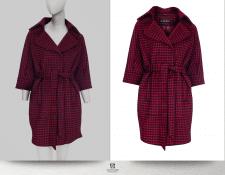 Обтравка женского пальто 2