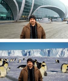 Пример замены фона в Adobe Photoshop