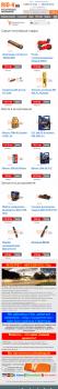 Мобильная версия сайта по продаже автозапчастей