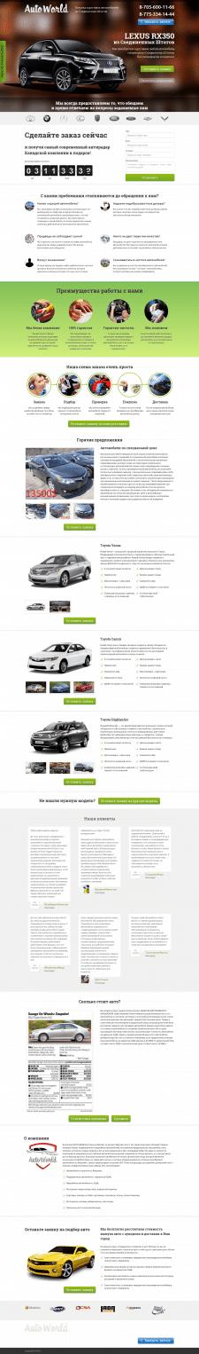 Сайт по продаже автомобилей из США