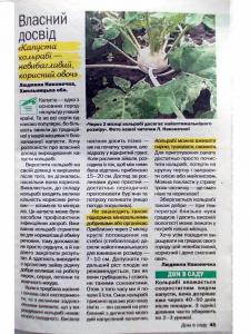 Статья для садоводческого журнала.