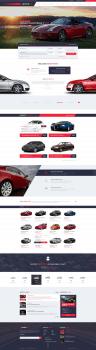 Дизайн шаблона аренды автомобилей