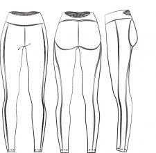 Технический рисунок спортивной одежды