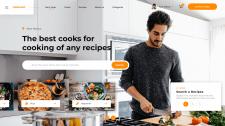 Дизайн сайта для поиска личного повара