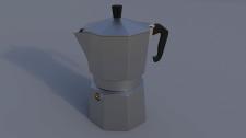 3D Гейзерная кофеварка