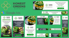 Баннеры для Honest Greens Bermuda (Google Ads)