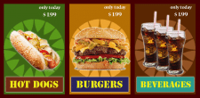 Fast-food banner