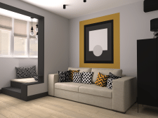 Gray shades apartment