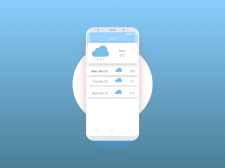 "Android App ""InWeather"""