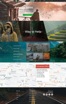 Дизайн для сайта еко-организации