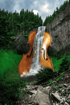 """Техника matte painting """"Music in nature"""""""