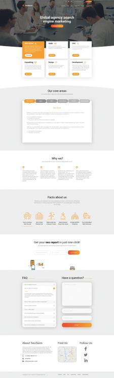 Дизайн landing page для американской сео компании