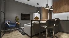 Квартира студия 40 кв м в ЖК Ривьера