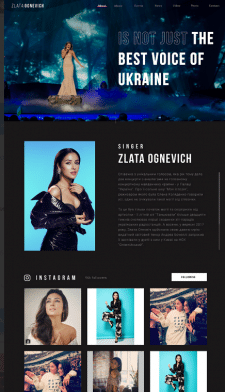 Сайт визитка артиста