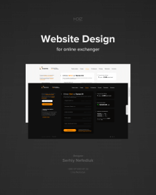Website design for online exchanger