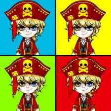 Иллюстрация. Пират. Аниме.