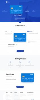 Дизайн сайта продвижения банковских продуктов Visa