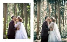 Цветокоррекция, свадьба, пример до/после