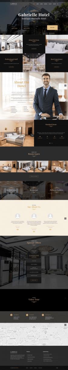 Сайт для отеля gabriellehotel.com