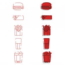 Создание иконок для сайта фастфуда