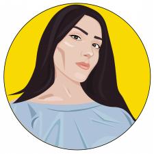Портрет в векторной графике