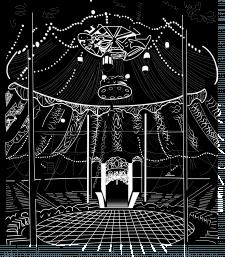 ОТрисовка купола цирка в линейной графике