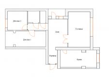 Перепланировка трехкомнатной квартиры в Киеве