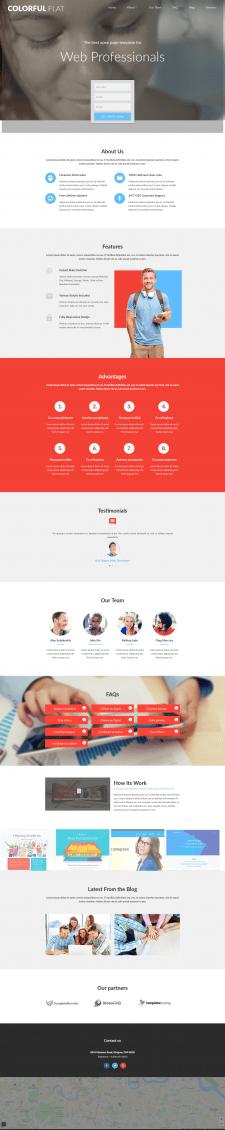 Адаптивный Lending-page компании