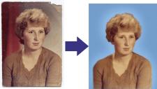 Обработка сканированого фото