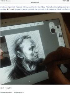 Рисунок по фото на планшете портрет по фотоSamsung