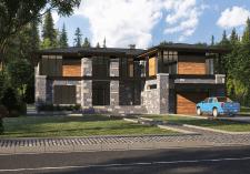 Визуализация дома в Канаде