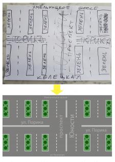 Отрисовка фрагмента карты