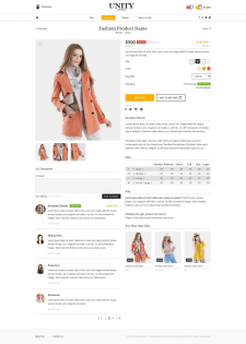 Uinity Fashion Store (Product Page)