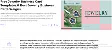 Jewelry Business Card Templates. Jewelry Busi