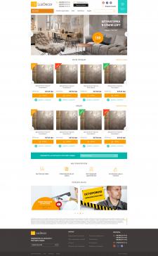 Адаптивная верстка интернет-магазина Luxdecor