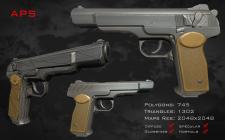 Автоматический пистолет Стечкина (Low-poly)