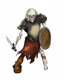 персонаж скелет