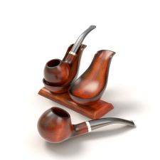 3D model Tobacco Pipe and Holder