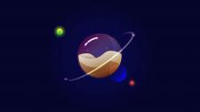 Планета в иллюстраторе для дальнейшей анимации