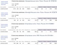 Спортивные сетки - CTR 13-16% / Конверсия 8-38%