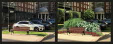 Вставка ландшафтного дизайну по генплану у фото