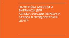 НАСТРОЙКА AMOСРМ И БИТРИКС24