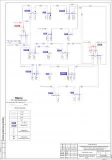 Однолинейная схема электрических сетей 35-110 кВ