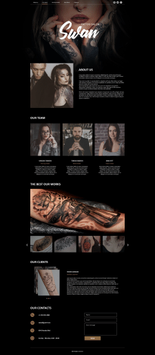 Landing Page for Tattoo salon