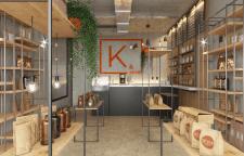 Дизайн интерьера магазина кофе