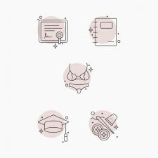 Векторные иконки на тему пошива нижнего белья