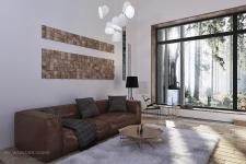 Минималистичный дизайн гостиной. Вид 2