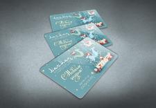 Новогодний магнит-визитка для службы доставки еды